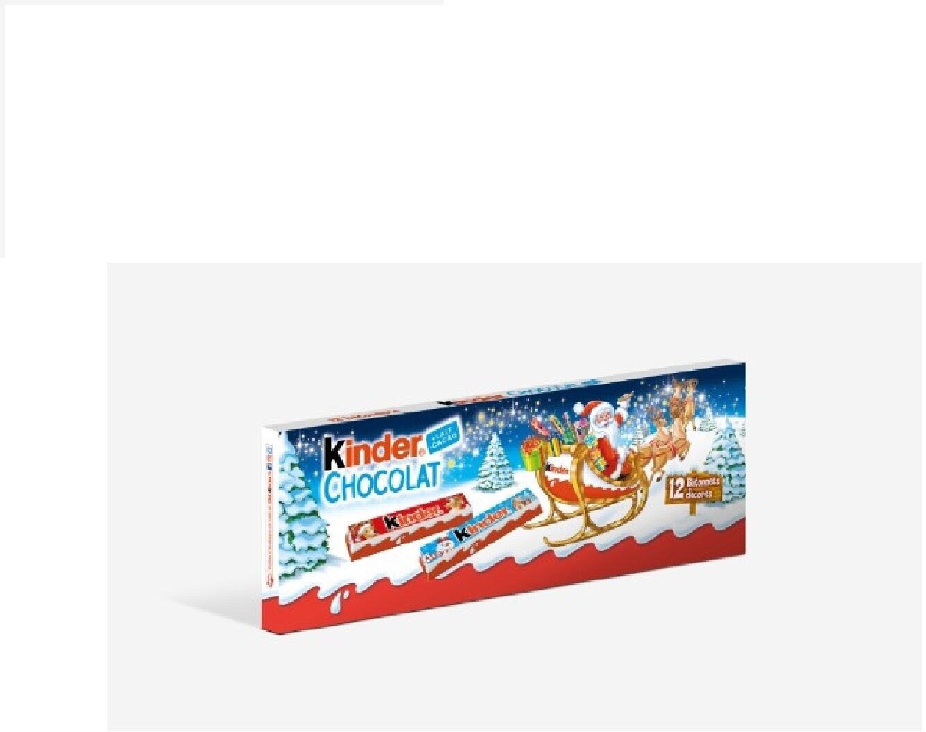 Kinder chocolat barrette 150g etui de 12 barres - Product - fr