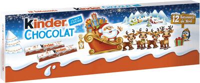 Kinder chocolat barrette 150g etui de 12 barres - Produit - fr