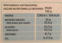 Kinder chocolat barrette 150g etui de 12 barres - Nutrition facts - fr