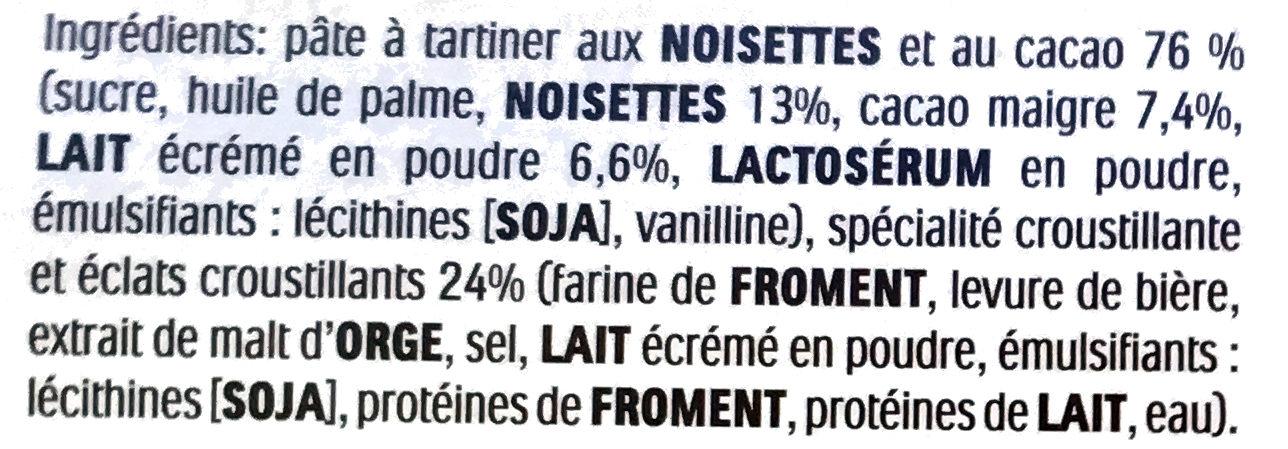 Nutella B-ready - Ingredients - fr