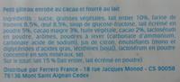 Délice - Petit gâteau enrobé au cacao et fourré au lait - Ingredienti - fr