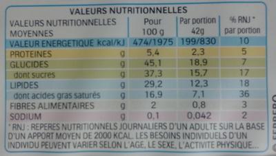 Délice - Petit gâteau enrobé au cacao et fourré au lait - Informazioni nutrizionali - fr