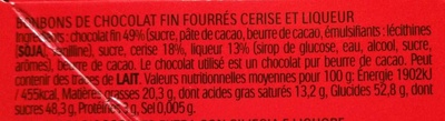 Mon Chéri - Ingrediënten - fr