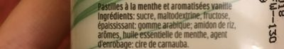 Bonbons tic tac goût menthe - Ingredienti - fr