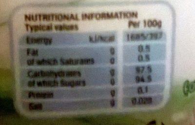 Tic Tac Fresh Mint - Informations nutritionnelles