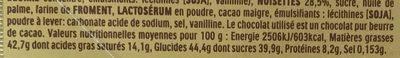 Ferrero rocher fines gaufrettes enrobees de chocolat au lait et noisettes avec noisette entiere cube de 6 pieces - Informations nutritionnelles - fr