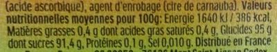 Bonbons tic tac goûts orange-citron vert - Informazioni nutrizionali - fr