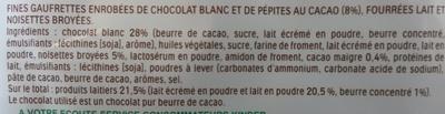 Kinder Bueno White - Ingredienti - fr