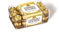 Ferrero rocher fines gaufrettes enrobees de chocolat au lait et noisettes avec noisette entiere boite de 30 pieces - Producto - fr