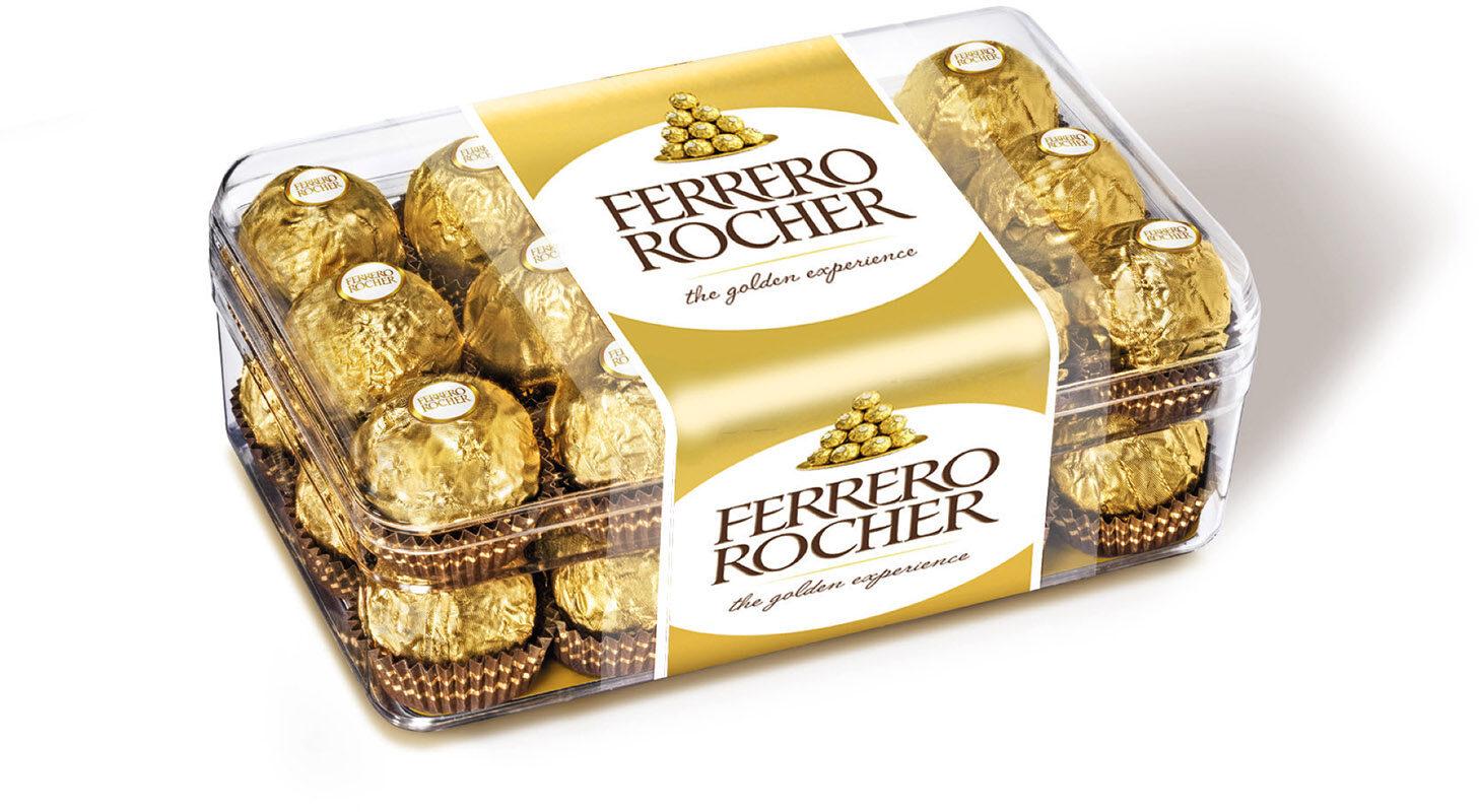 Ferrero rocher fines gaufrettes enrobees de chocolat au lait et noisettes avec noisette entiere boite de 30 pieces - Produit - fr