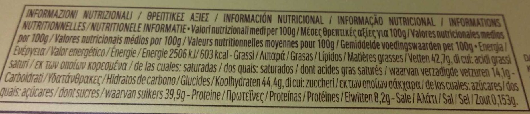 Ferrero rocher t30 boite de 30 pieces - Informazioni nutrizionali - it