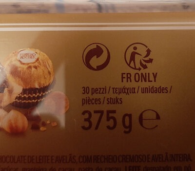 Ferrero rocher t30 boite de 30 pieces - Recycling instructions and/or packaging information - fr
