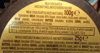 Grand Ferrero Rocher - Ingredients