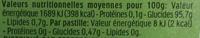Tic Tac (goûts Duo de Pommes) - Voedingswaarden