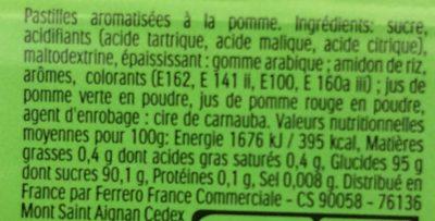 Tic Tac Apple Mix goût Duo de Pommes - Ingredienti - fr