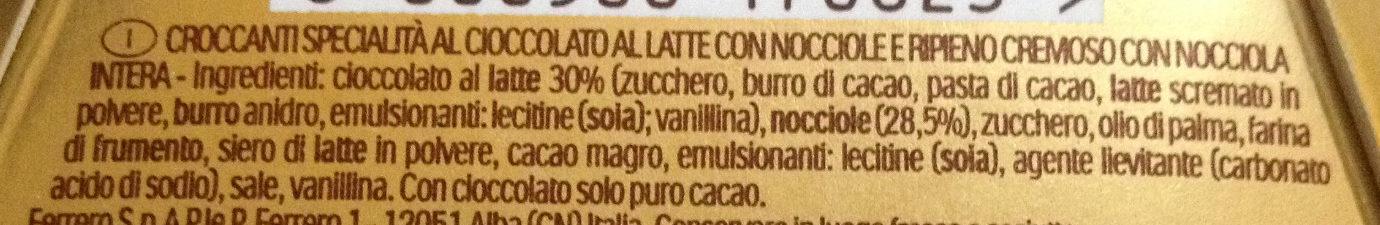 Ferrero Rocher - Ingredienti - it