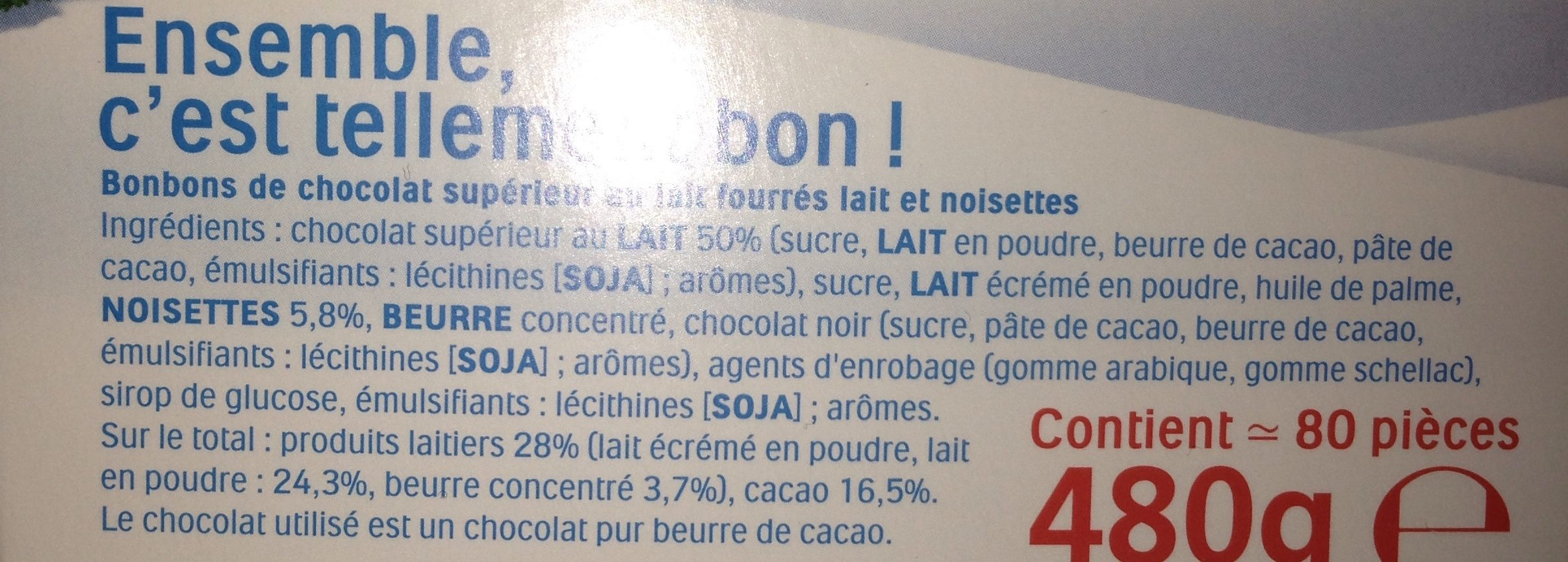 Kinder schokobons ballotin boite de - Ingredienti - fr