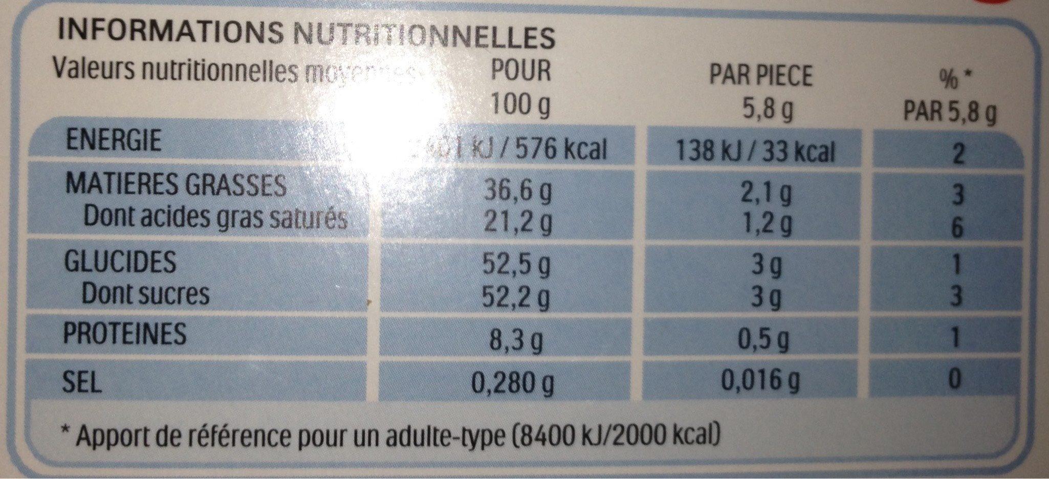 Kinder schokobons ballotin boite de - Valori nutrizionali - fr