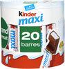 Kinder maxi barre chocolat au lait avec fourrage au lait 20 barres - Produit