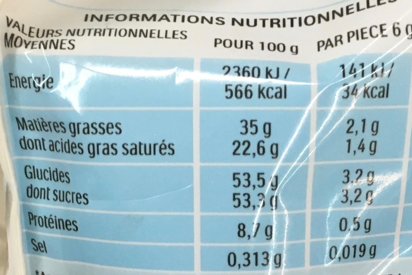 Kinder Maxi Mini - Informazioni nutrizionali - fr