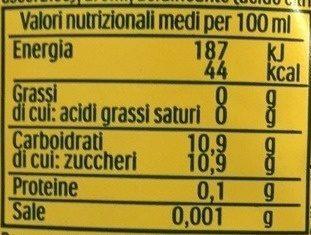 estaThé, limone - Informations nutritionnelles - fr