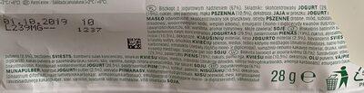 Biszkopt z jogurtowym nadzieniem 67% - Składniki - pl
