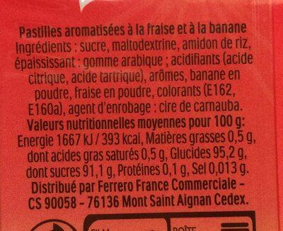 Tic tac Gout fraise smoothie - Ingrédients