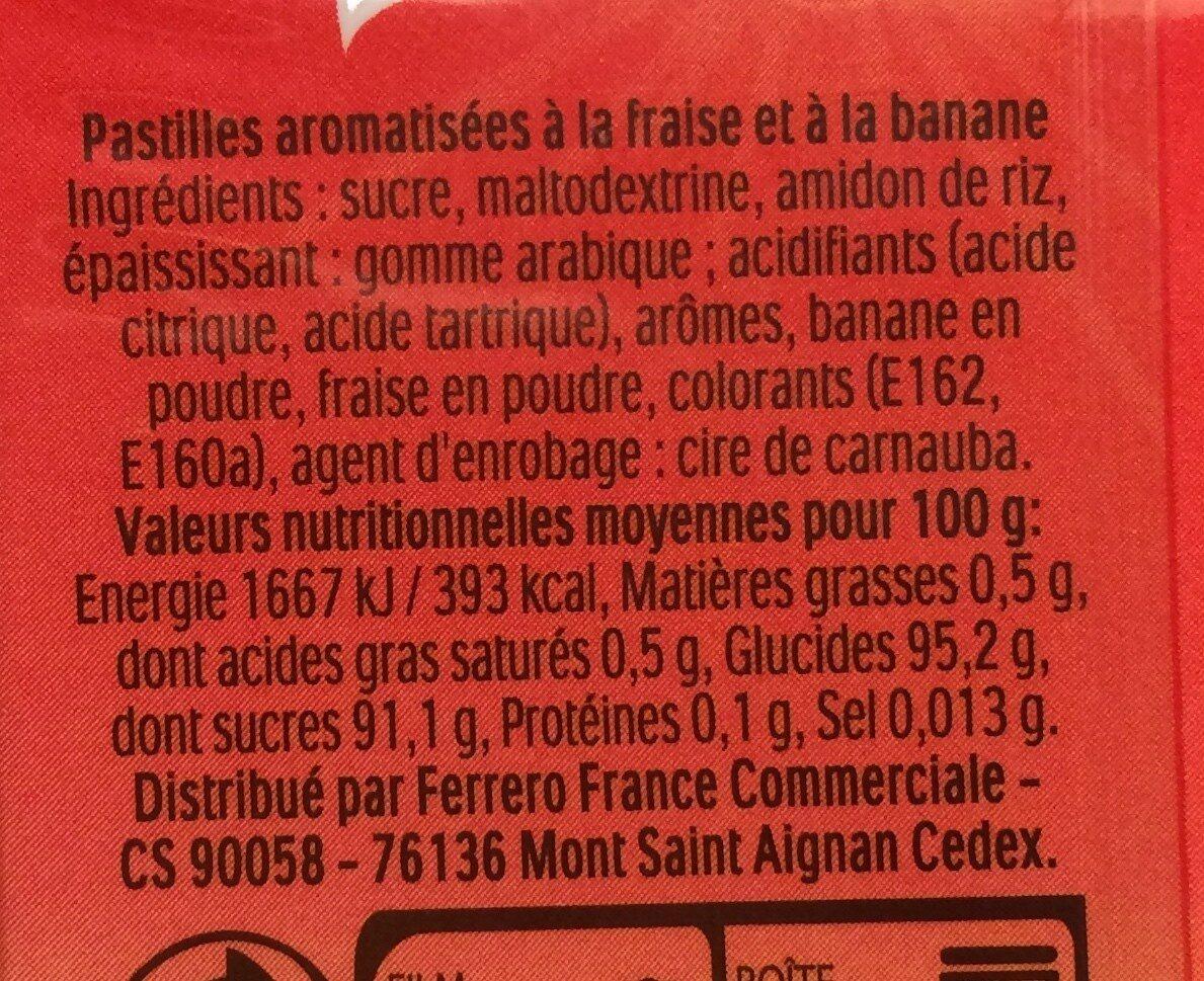 Bonbons tic tac goût gentle orange et menthe - Ingrédients - fr