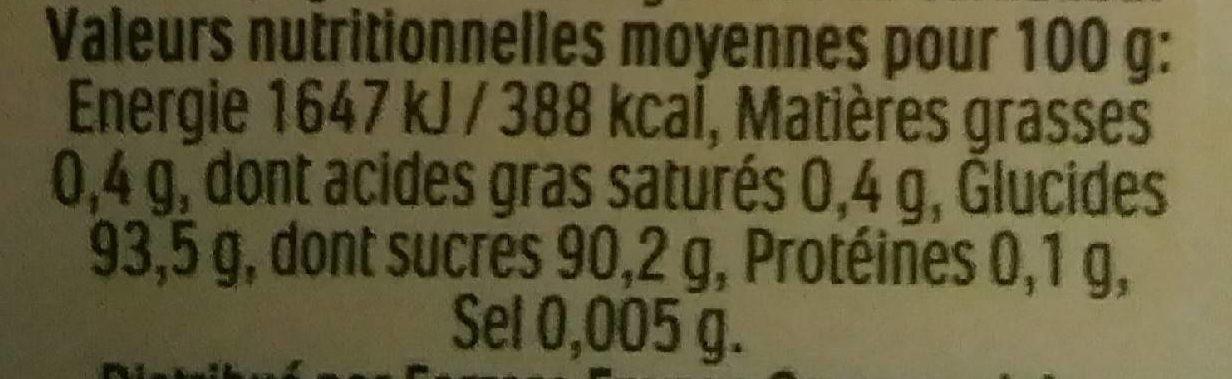 Bonbons tic tac goût gentle orange et menthe - Informations nutritionnelles - fr