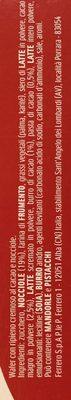 Tronky Nocciola - Croccante wafer ripieno alla nocciola - Ingredients