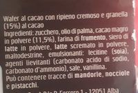 Ferrero Tronky Cacao T5 - Ingredients