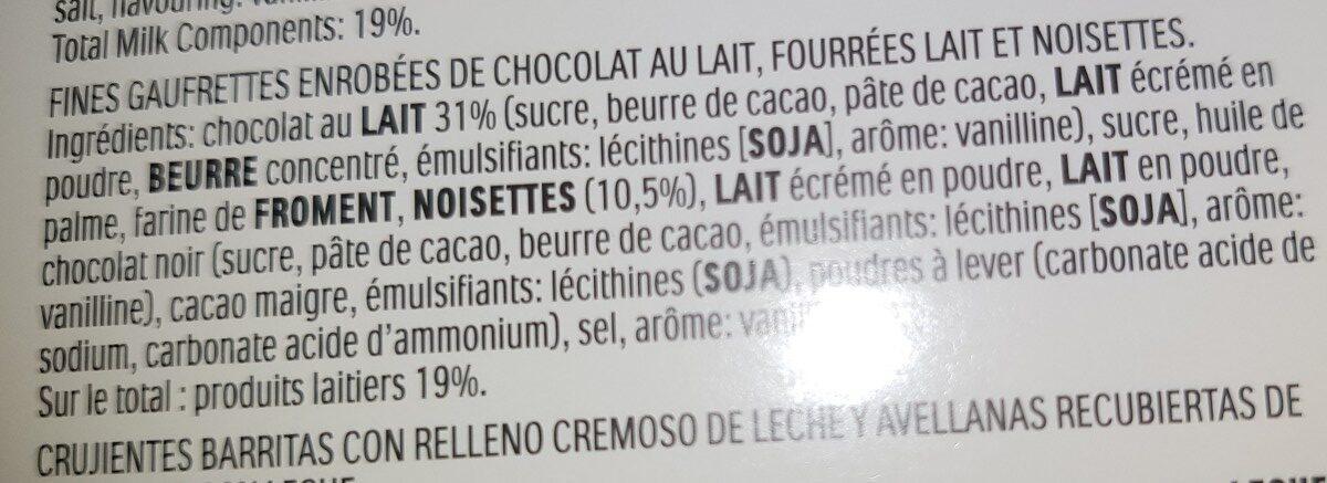 Chocolate Kinder Bueno Mini - Ingrediënten - fr