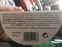 Duplo choco gaufrette 20 barres - Ingredients