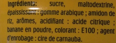 Tic Tac banane les Minions - Ingredients - fr