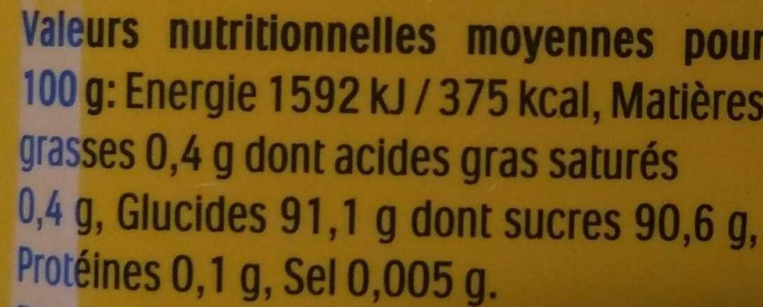 Tic Tac banane les Minions - Nutrition facts - fr