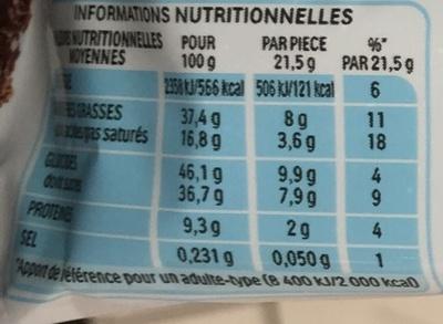 Kinder Bueno Dark - Informations nutritionnelles - fr