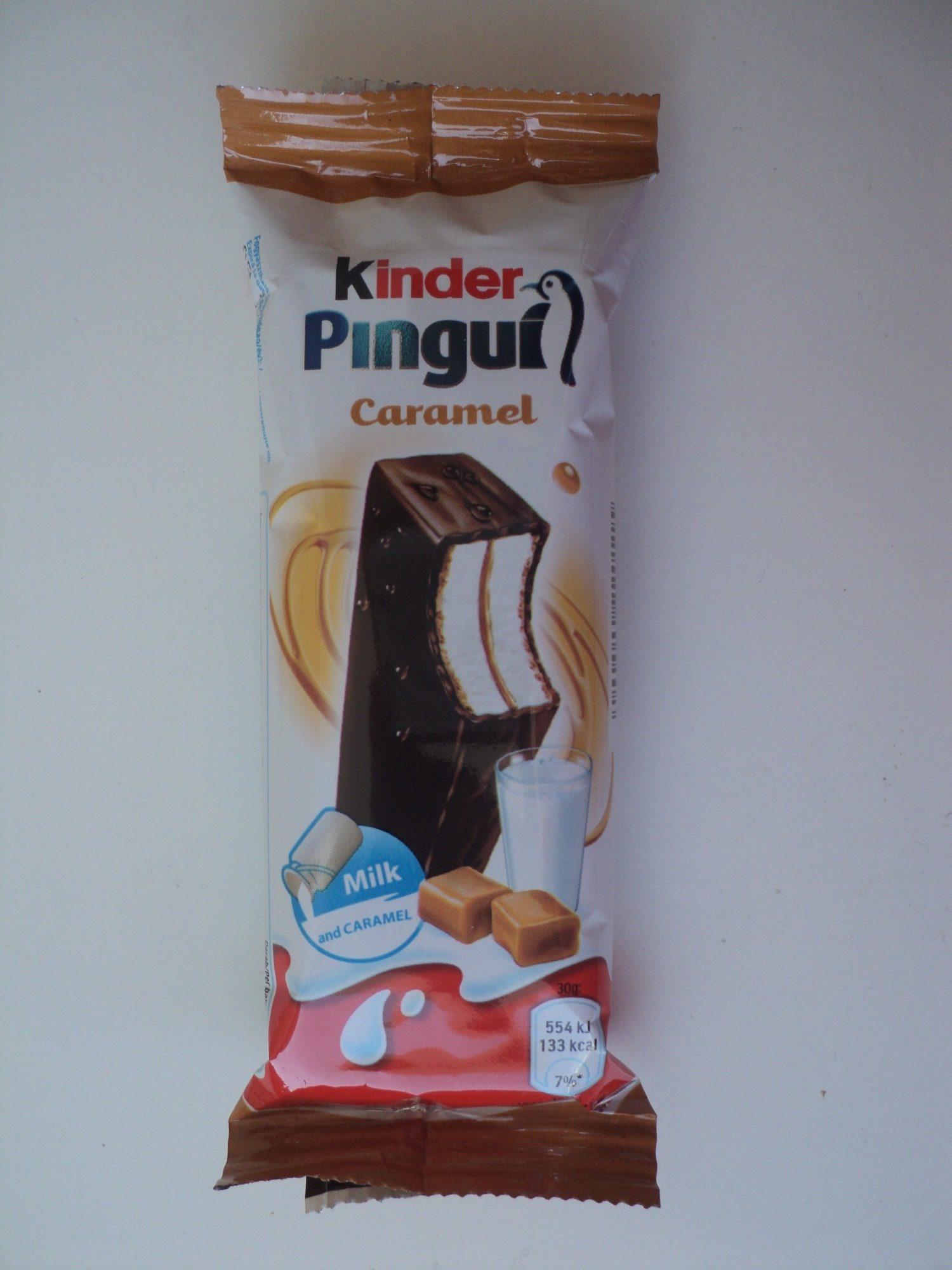 Kinder Pingu Prajitura cu lapte si caramel trasa in ciocolata - Product - ro