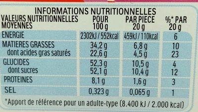Kinder Surprise Infinimix - Valori nutrizionali - fr