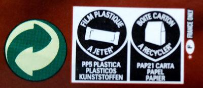 Nutella B ready - Instruction de recyclage et/ou information d'emballage - fr