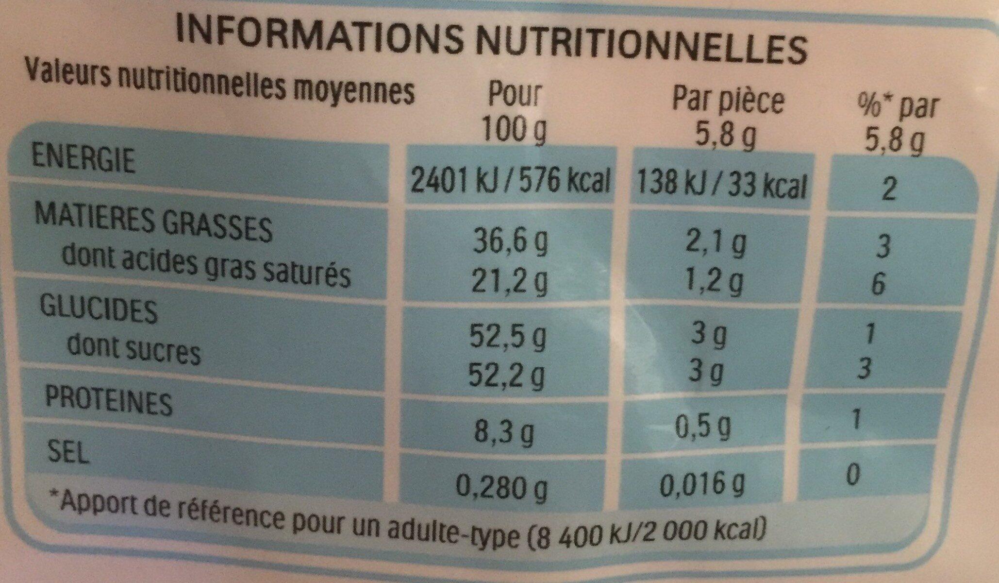 Kinder schokobons bonbons de chocolat au lait fourres lait et noisettes sachet - Valori nutrizionali - fr