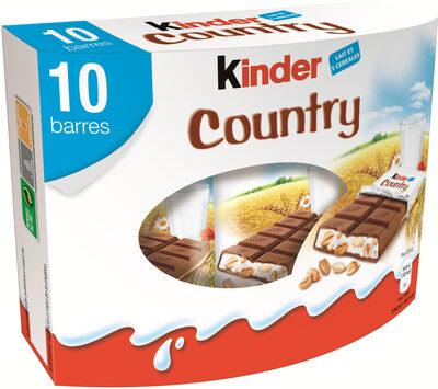 Kinder country barre de cereales enrobee de chocolat 10 barres - Product - fr