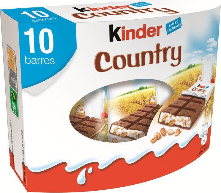 Kinder country barre de cereales enrobee de chocolat 10 barres - Prodotto - fr