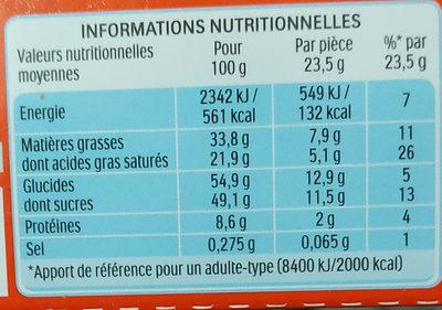 Kinder country barre de cereales enrobee de chocolat 10 barres - Voedingswaarden - fr
