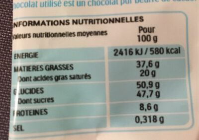 Kinder 12 petits oeufs noisette - Valori nutrizionali - fr
