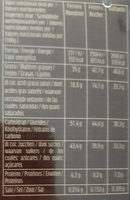 Ferrero Collection - Informations nutritionnelles