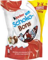 Kinder schokobons bonbons de chocolat au lait fourres lait et noisettes sachet - Product - fr