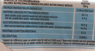 B-ready - Valori nutrizionali - fr
