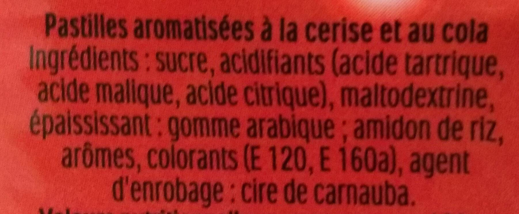 Tic tac mixers cerise cola t100 etui de 100 - Ingrédients - fr