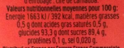 Tic tac mixers cerise cola t100 etui de 100 - Informations nutritionnelles - fr