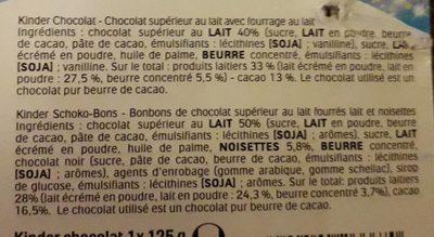 Kinder mix 217g sac - Ingrédients - fr